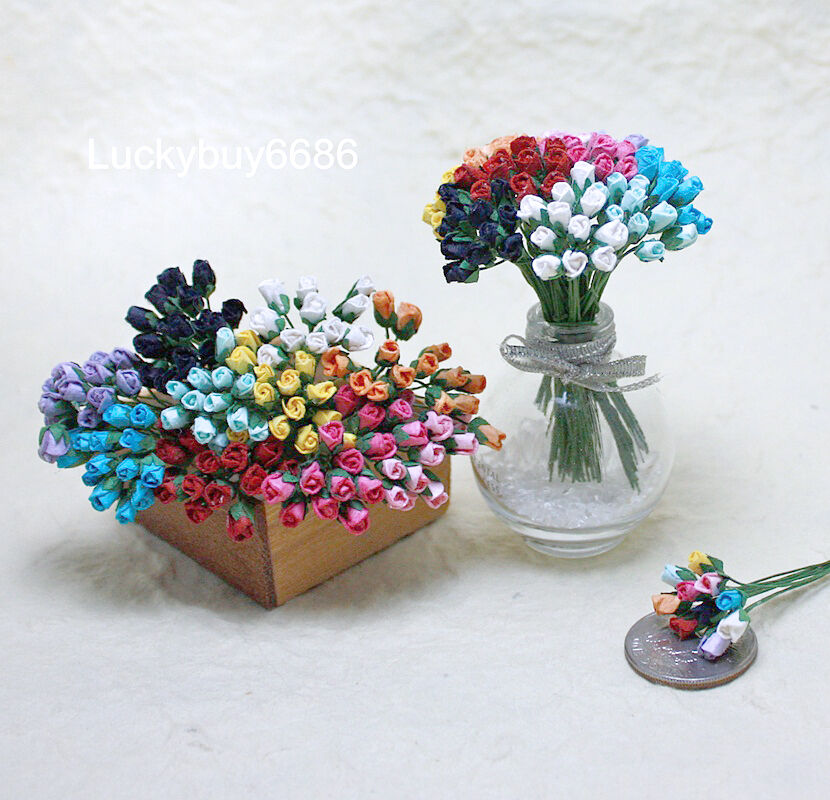 Mini Paper Flowers Craft