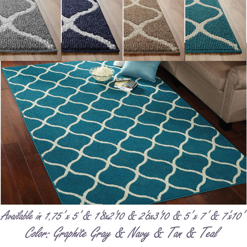 Attractive Abstract Tile Area Or Runner Rug Geometric