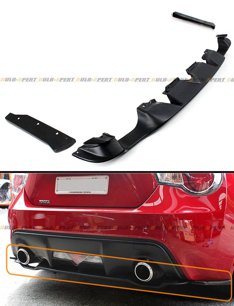 for 2013 16 scion frs ft 86 rear bumper lower diffuser 2