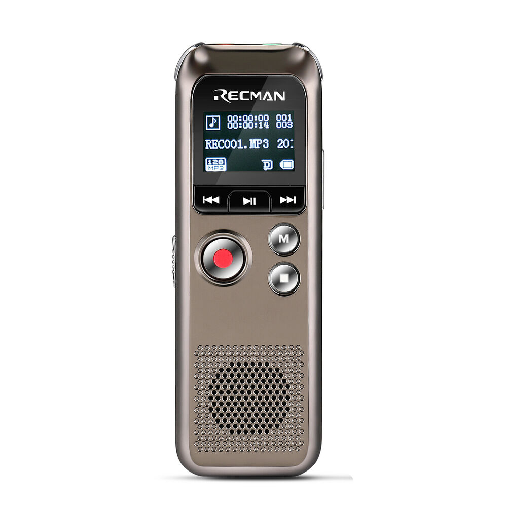 8gb digital audio voice recorder rechargeable dictaphone usb drive mp3 player ebay. Black Bedroom Furniture Sets. Home Design Ideas