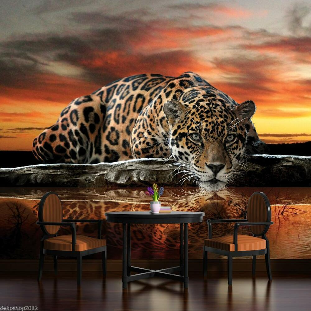 poster tapeten fototapete fototapeten wandbild bild tapeten jaguar katze 126 p4 ebay. Black Bedroom Furniture Sets. Home Design Ideas