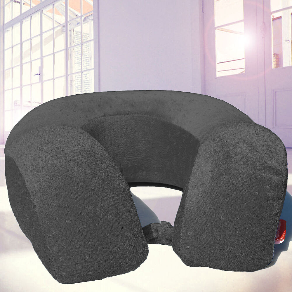 memory foam u shaped travel pillow neck support head rest airplane cushion large ebay. Black Bedroom Furniture Sets. Home Design Ideas