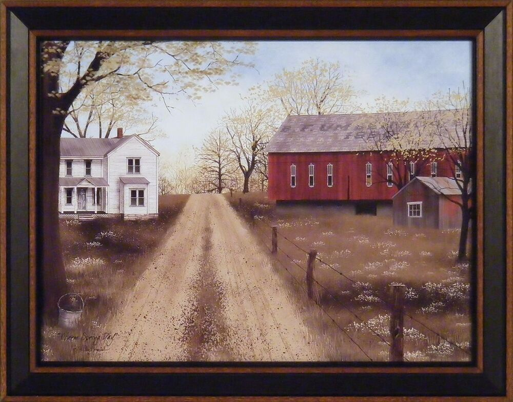 Warm Spring Day By Billy Jacobs 15x19 Framed Art Picture