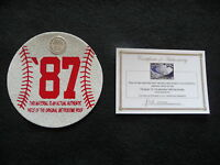 1987 World Series baseball  cut from METRODOME ROOF! Minnesota Twins