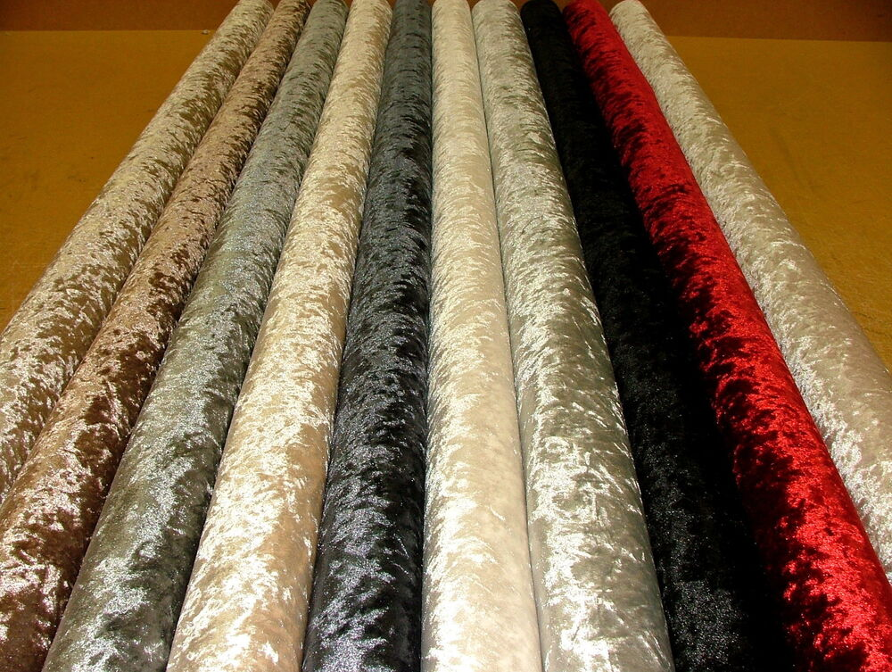 bling crushed velvet fabric ideal for curtain upholstery cushions blinds ebay. Black Bedroom Furniture Sets. Home Design Ideas