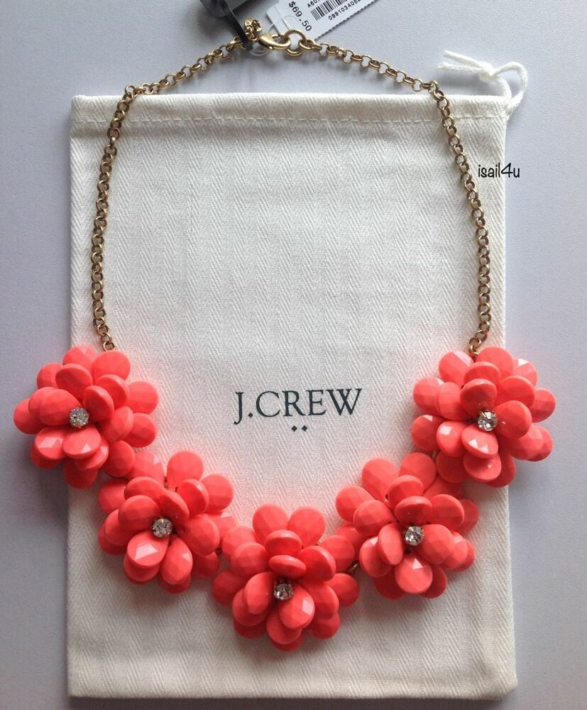 J crew factory crystal floral burst necklace nwt for J crew jewelry 2015