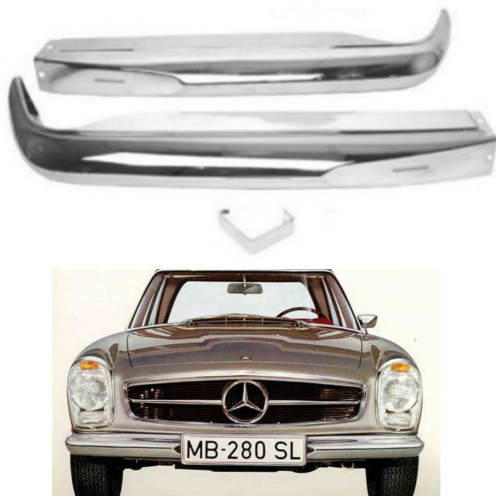 1963 1971 for mercedes benz w113 230sl 250sl 280sl front for Mercedes benz chrome accessories