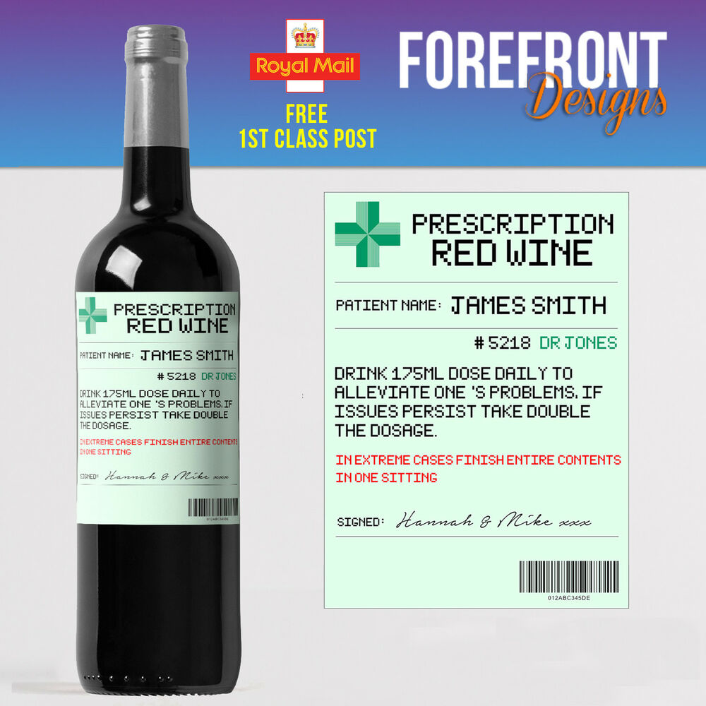 It's just a photo of Unforgettable Personalised Red Wine Label