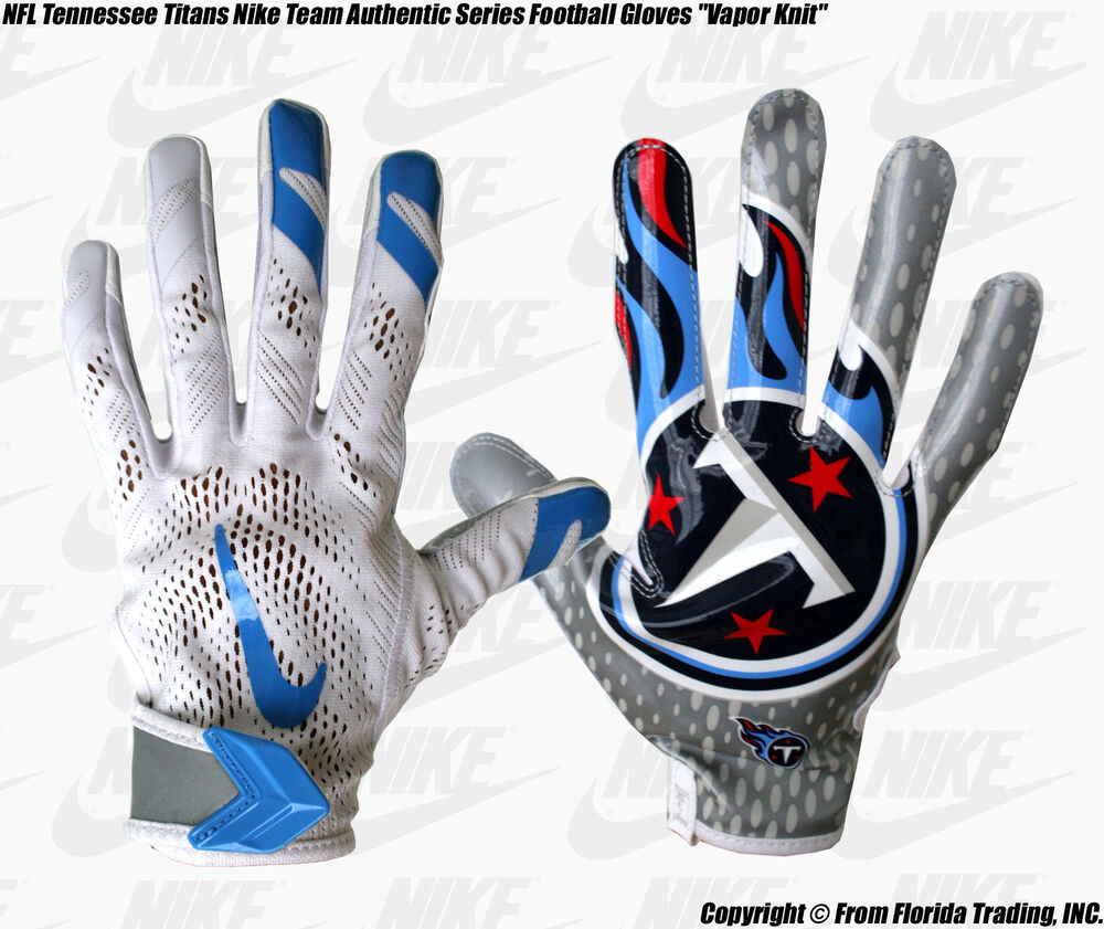Nike Football Gloves: NFL Tennessee Titans NIKE Team Authentic Series Football