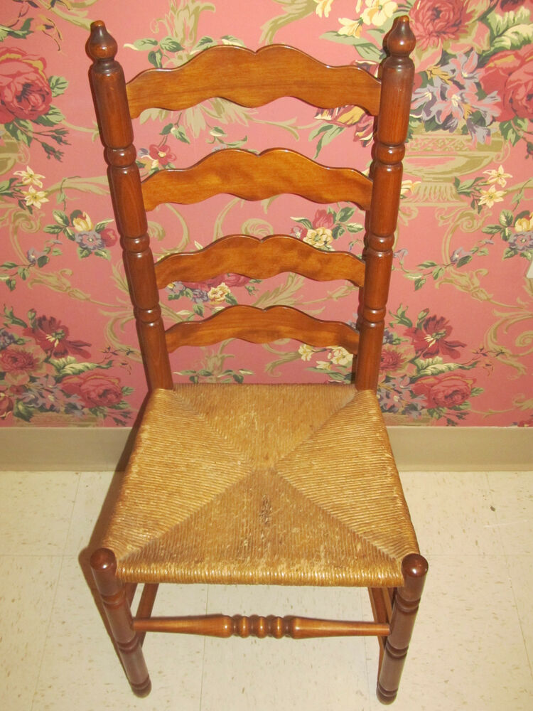Tell City Ladderback Chair Andover Maple Wood With Caned
