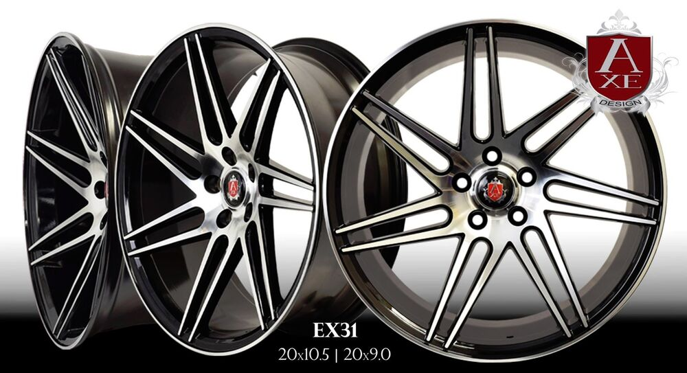 Axe Ex31 Wheels Rims 20 Quot Staggered Setup Mustang G35