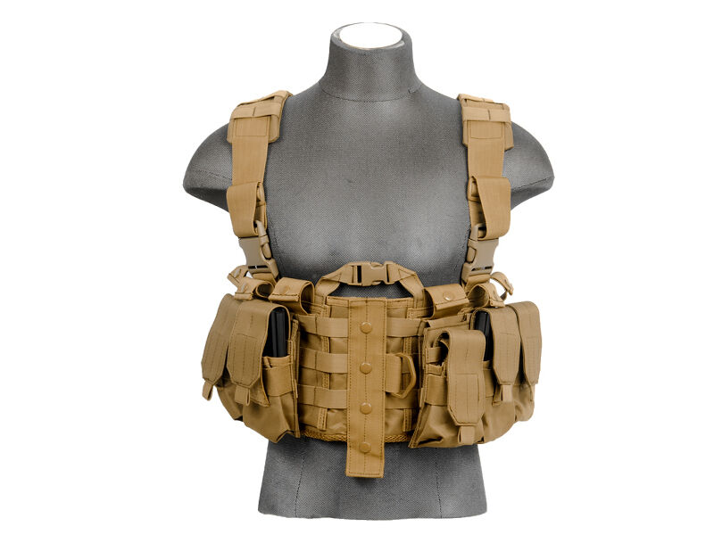Diagram Lancer Tactical 306 Series M4 Chest Harness Tan Ca