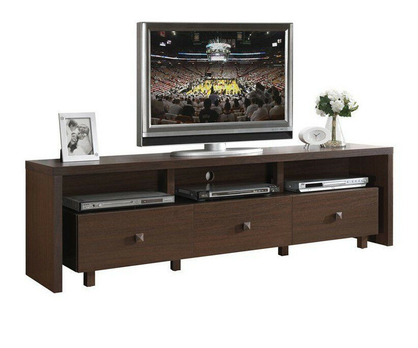 70 tv stand techni mobili 70 inch tv stand with 3 drawer hickory rta 28516