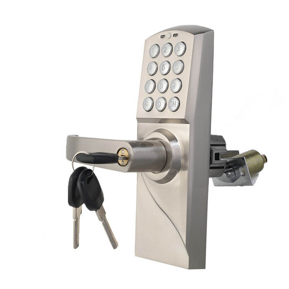 Digital electronic code keyless keypad security entry door for Door handle with lock