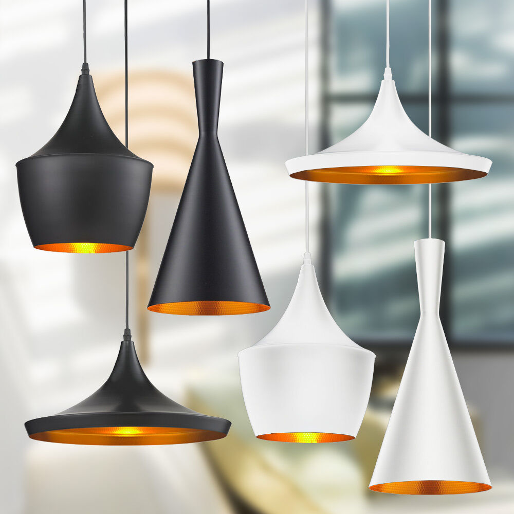 Hanging Light Fixture: White/Black Beat Ceiling Fixtures Kitchen Bedrooom Pendant
