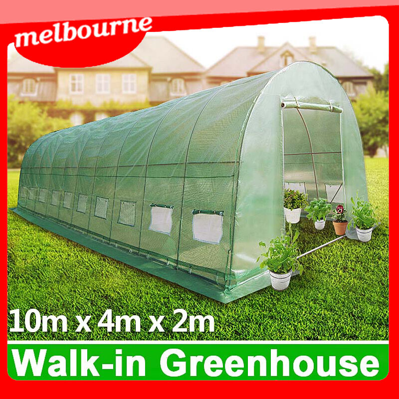 Vic pickup 10x4m galvanised pole super strong walk in for Pole barn greenhouse