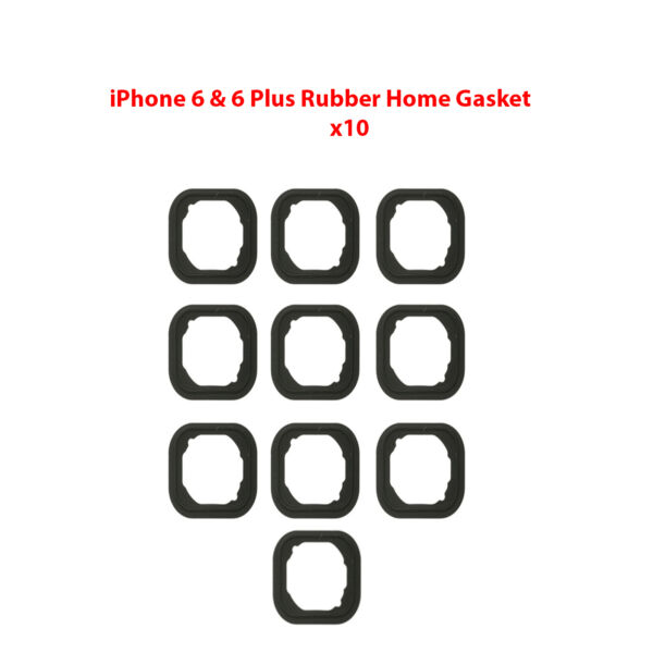 10x Replacement Rubber Gasket Home Button Holder Adhesive For iPhone 6 & 6 Plus