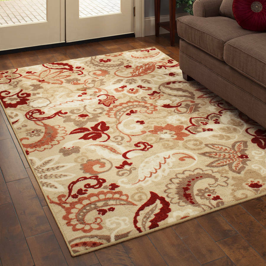 better homes and gardens rugs paisley spice floral area amp runner rug bronze rust 29228