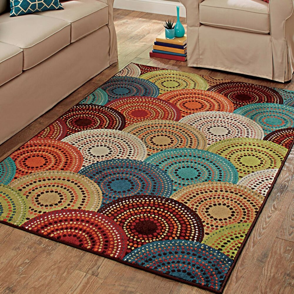 Rainbow Shag Rug Home Decor