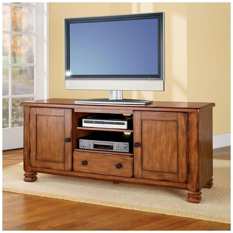 altra furniture 55inch tv stand entertainment center tuscany oak rustic 98296 ebay. Black Bedroom Furniture Sets. Home Design Ideas