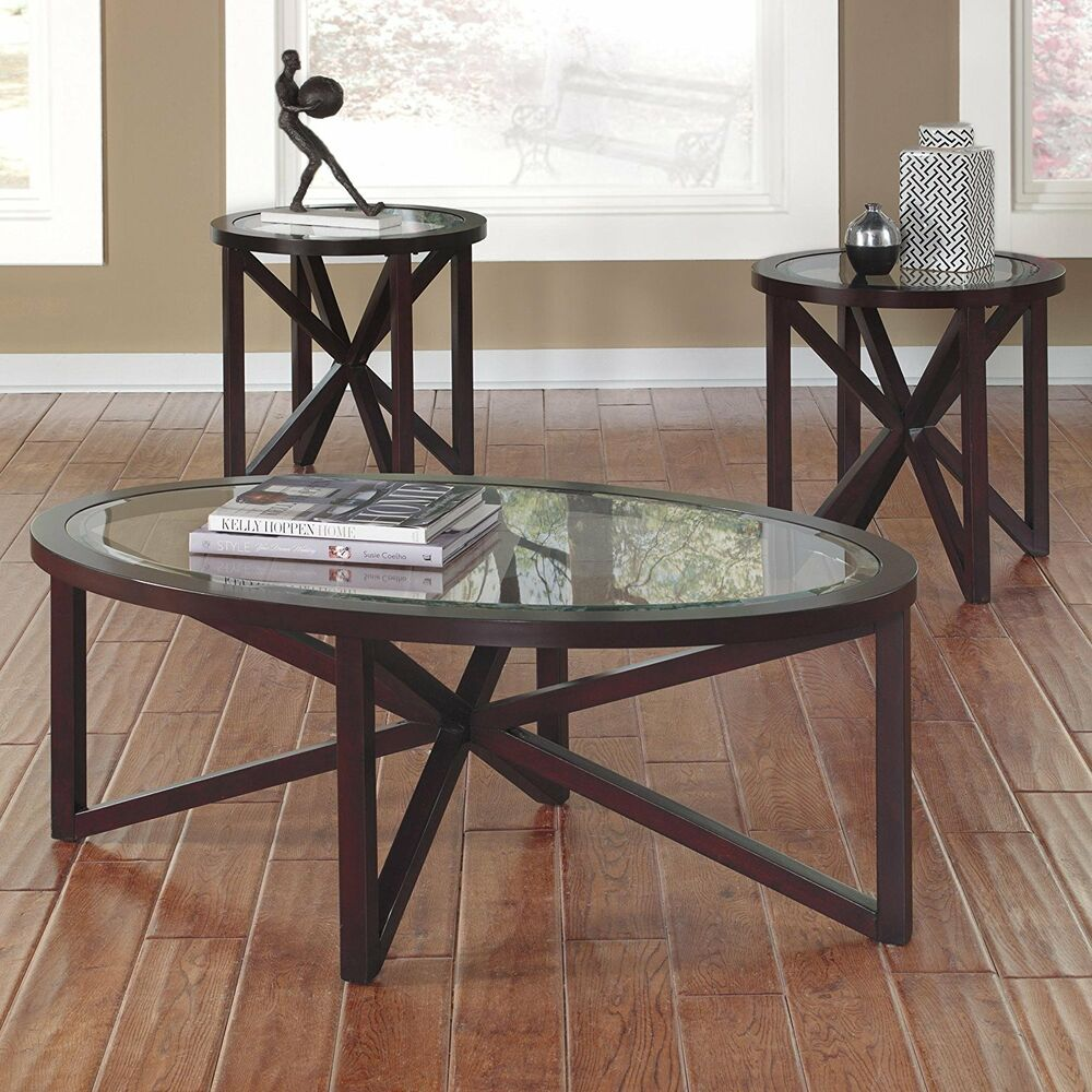 Ashley furniture occasional table set set of 3 sleffine for 13 table