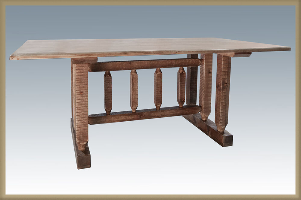 Farmhouse Trestle Tables 6 Ft Amish Made Kitchen Dining
