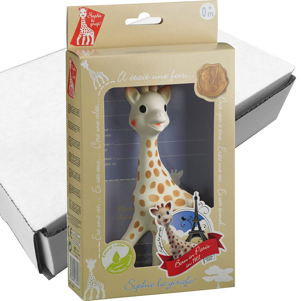 new vulli sophie the giraffe baby teether natural rubber pacifier squeaker toy ebay. Black Bedroom Furniture Sets. Home Design Ideas