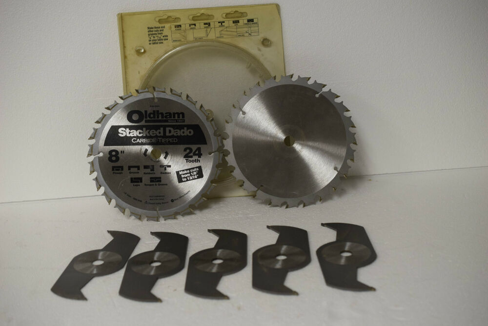 Oldham 800 5224 Stacked Dado Blades 8 Quot 24 Tooth Carbide