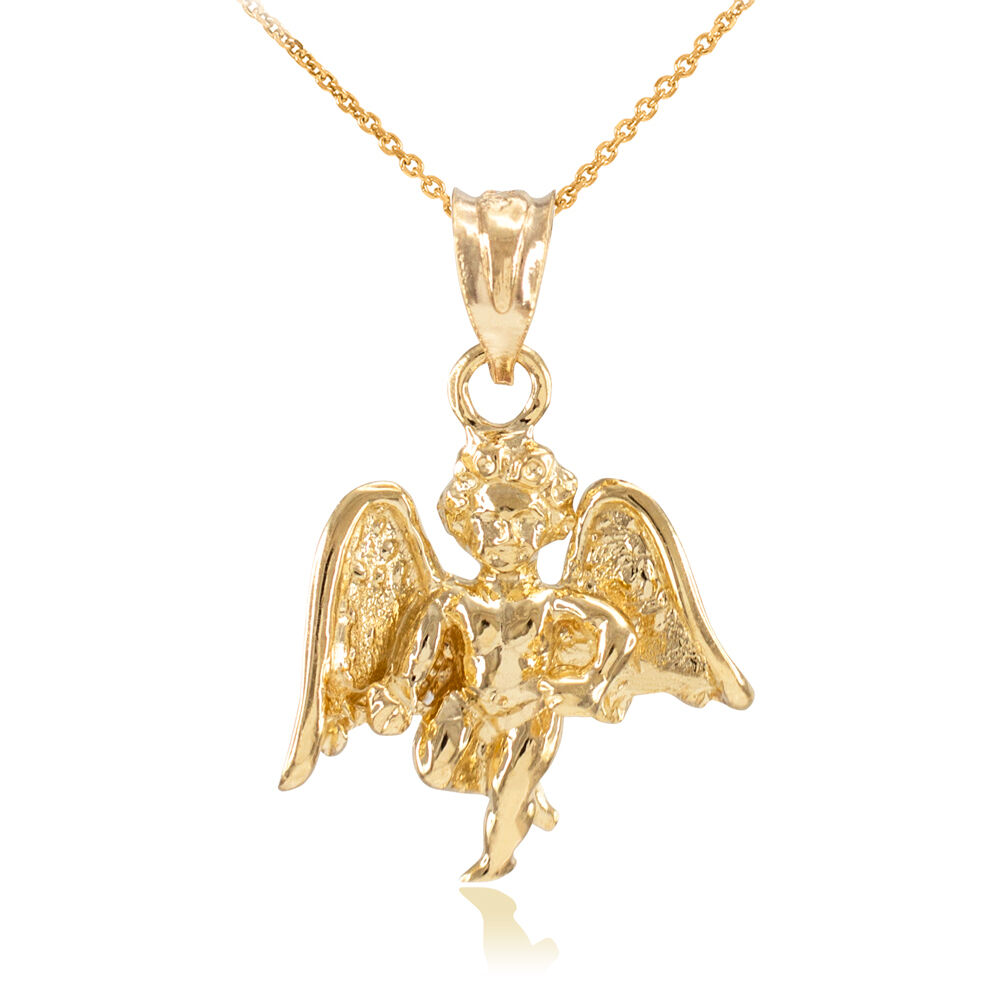 solid gold guardian charm pendant necklace ebay