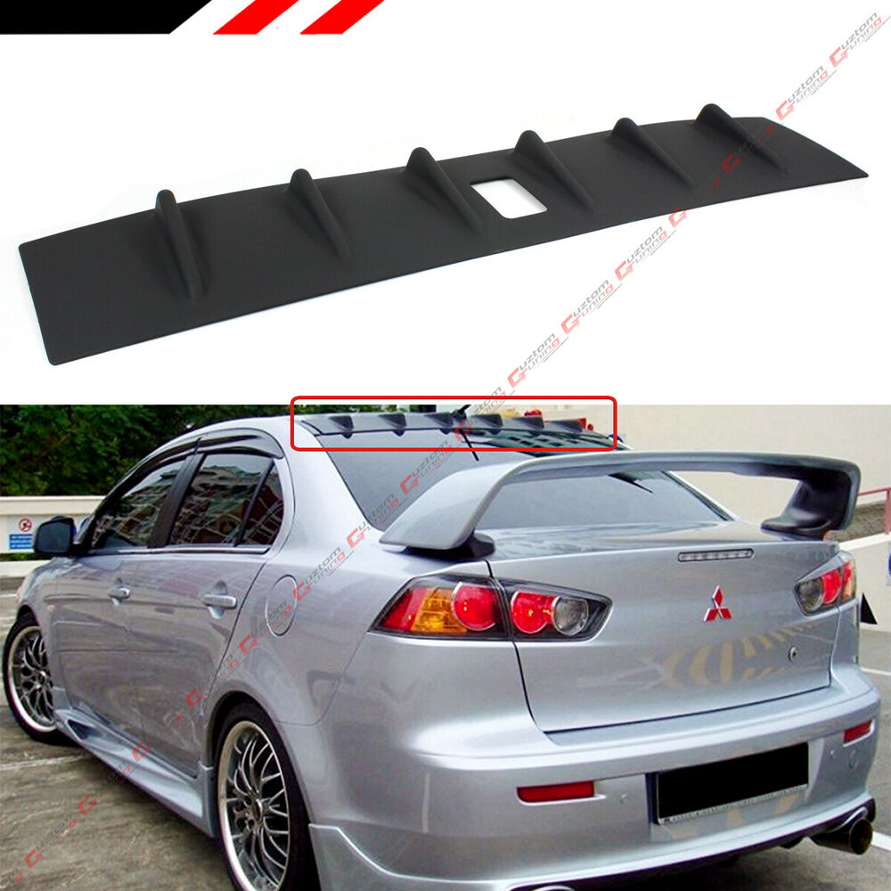 abs style mitsubishi itm ast wborder trunk information black product matte oe rear spoiler additional wing lancer