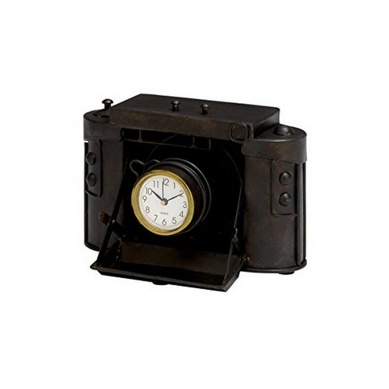 Deco 79 industrial chic old fashioned camera table clock - Camera industrial chic ...
