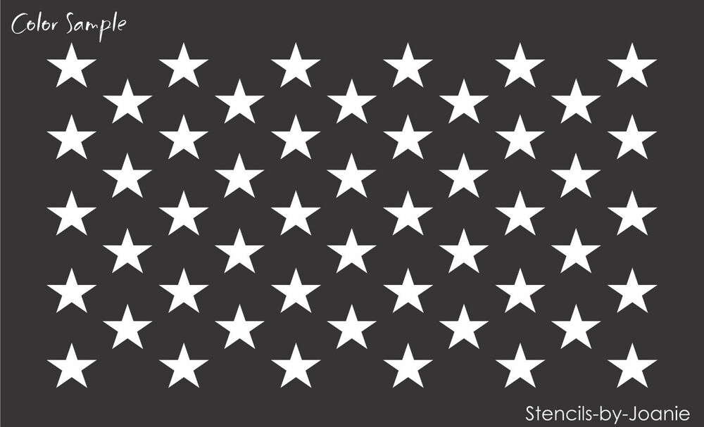Soft image for 50 star stencil printable