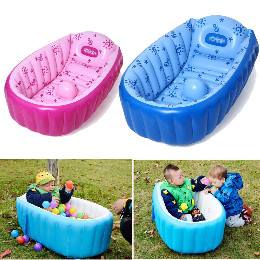 portable baby kid toddler inflatable bathtub newborn thick bath tub summer. Black Bedroom Furniture Sets. Home Design Ideas