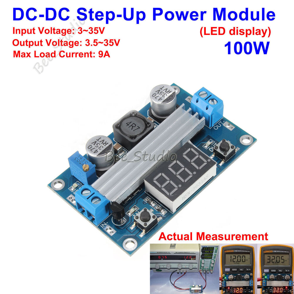 Dc Led Display 3 35v 12v Boost Step Up Voltage Module Regulator Four Powersupply Circuitsfixed Ac Power Supply Ebay