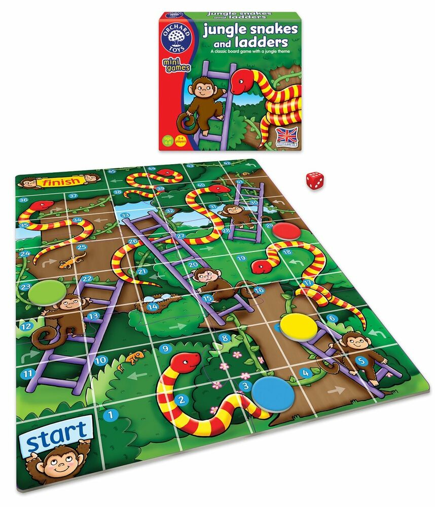 Classic Toys And Games : Orchard toys jungle snakes and ladders classic board game