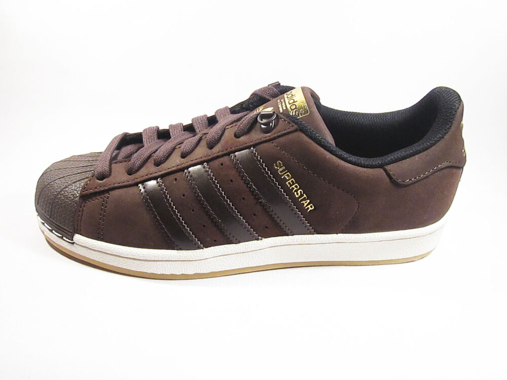 original adidas superstar leather waxy dark brown trainers. Black Bedroom Furniture Sets. Home Design Ideas