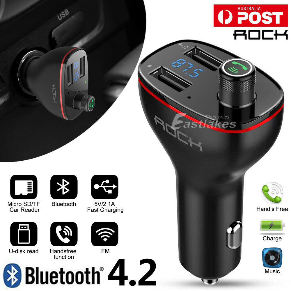 bluetooth car kit fm transmitter mp3 player sd usb charger for iphone 7 samsung ebay. Black Bedroom Furniture Sets. Home Design Ideas