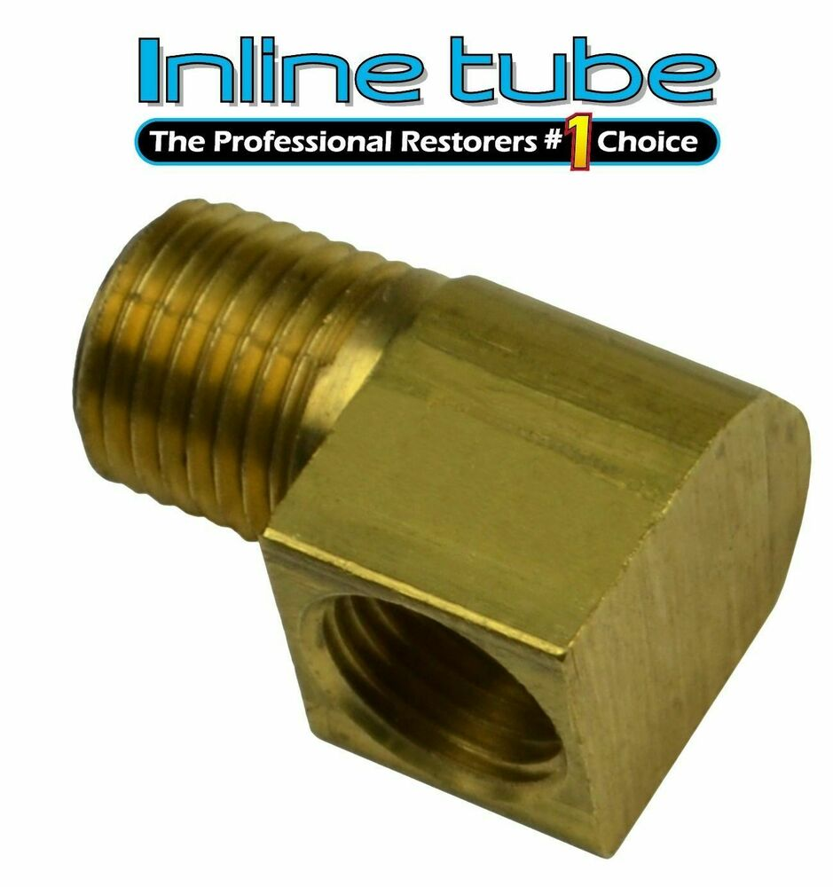 Npt to inverted flare fuel line brass adapter