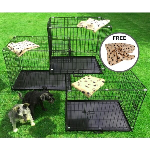 small medium large xl xxl pet dog cage crate foldable. Black Bedroom Furniture Sets. Home Design Ideas