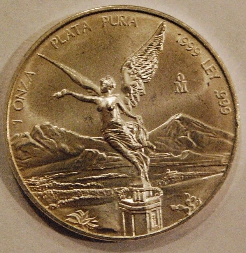 1999 1 Oz Silver Mexican Libertad 2nd Lowest Mintage 1oz