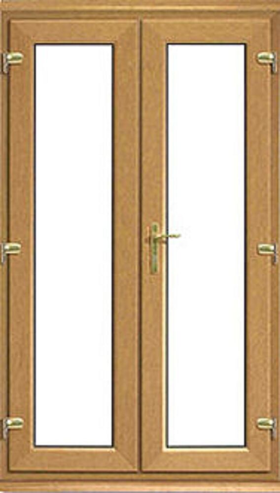 Oak on white upvc french doors made to measure one for French doors for sale uk