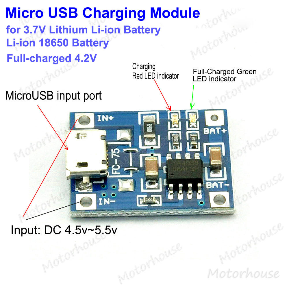 Charger Circuit For Lithium Ion Battery Circuits 8085 Projects Blog Archive 15v Led Flashlight 5v Microusb Lipo Li 18650 3 7v Charging Module Board Ebay
