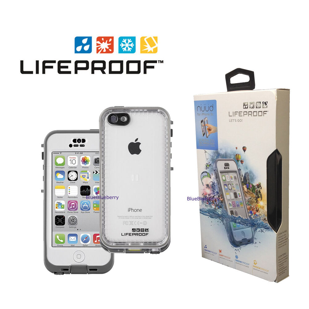 New lifeproof nuud waterproof case for apple iphone 5c for Housse iphone 5 c