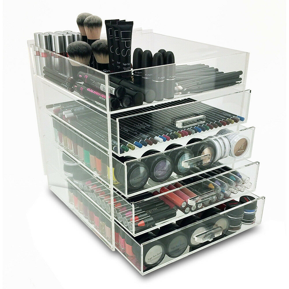 New Deluxe Makeup Organizer Acrylic 5 Tier Drawer