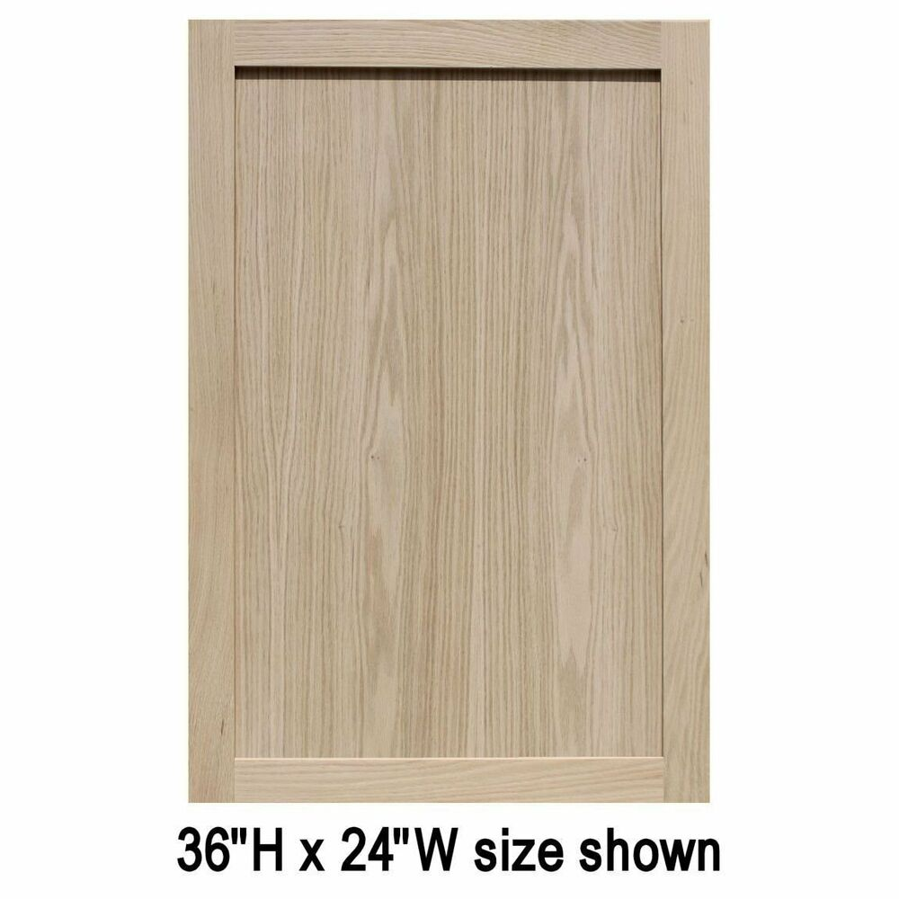 "Replacement Oak Kitchen Cabinet Doors: Unfinished Oak Shaker Cabinet Doors (25""H & Up)"