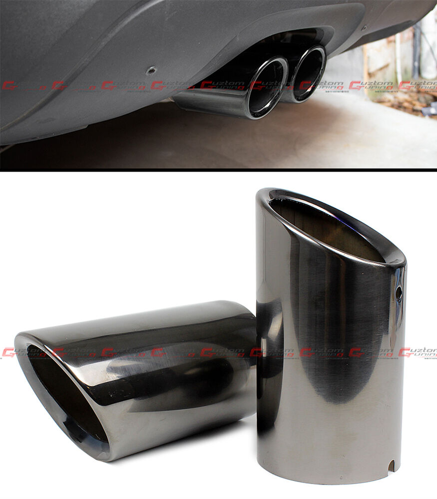 Titanium Black Chrome Slip On Steel Muffler Exhaust Tips