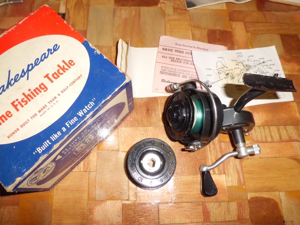 Vintage shakespeare spin wonder 2065nl spinning reel made for American made fishing reels