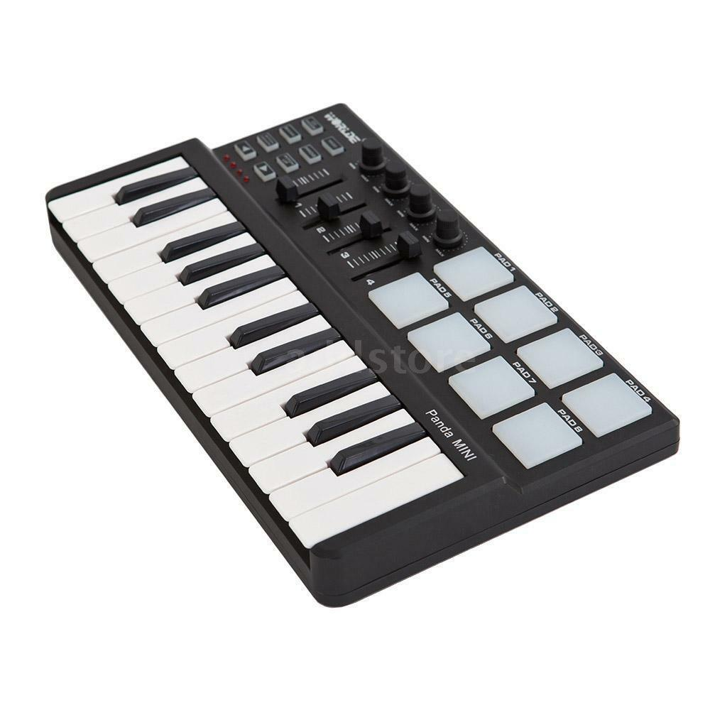 worlde panda mini 25 key portable usb midi drum pad keyboard controller n0o4 ebay. Black Bedroom Furniture Sets. Home Design Ideas