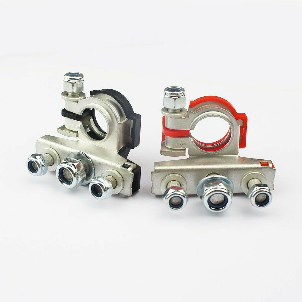 Automotive Battery Cables And Connectors : Universal positive nagative car battery terminal clamp