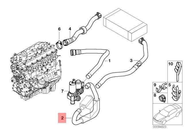 Genuine Bmw E46 Hose Water Valve And Electric Flow Heater